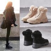 棉鞋女冬季加絨2019新款韓版百搭學生雪地鞋女短靴加棉休閒高筒鞋