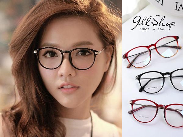 Cheer.TR90塑膠鈦MIX金屬花紋圓框光學配鏡框眼鏡【p625】*911 SHOP*