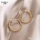 大圓圈歐美風耳環耳釘2020新款潮女韓國氣質網紅耳飾925純銀銀針 黛尼時尚精品