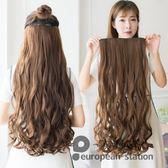 假髮片/長捲髮一片式女蓬鬆自然無痕隱形「歐洲站」