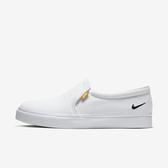 Nike WMNS Court Royale AC SLP [bq9138-100] 女鞋  簡約 懶人鞋 休閒  白黑
