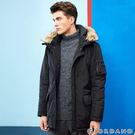 【GIORDANO】男裝鋪棉收腰長版多口袋連帽外套-09 標誌黑