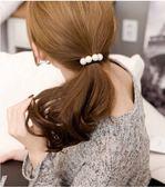 髮飾 現貨 韓國熱賣氣質美女必備百搭手作珍珠打結髮束(6色) S7212  批發價 Danica 韓系飾品