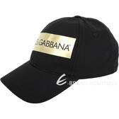 DOLCE & GABBANA 品牌字母帆布棒球帽(黑色) 1930257-01