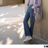 《BA5865》高含棉復古時尚牛仔修身落地喇叭長褲 OrangeBear