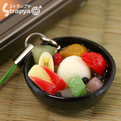 ❤Hamee 日本製 美味食品系列 超逼真 迷你 仿真食物 模型 手機吊飾 掛飾 (水果蜜紅豆) [54-131718]