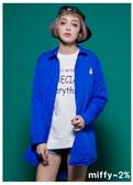 【2%】新品 miffy X 2% 米飛長版舖棉外套_藍