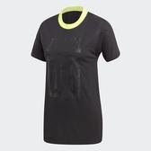 ADIDAS AA-42 TEE 黑 螢光綠 透氣 數字 短袖T 女(布魯克林) CE0976