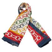 【Louis Vuitton 路易威登】M72073 彩色LV圖案方形絲巾