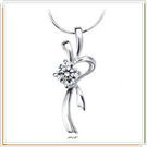 925純銀項鍊-焦點女性墜子飾品情人節禮物生日禮物7g12【巴黎精品】