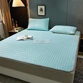 涼席 涼席三件套冰絲可機洗水洗折疊床墊床笠款床單雙人單