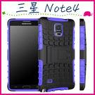 三星 Galaxy Note4 N910 輪胎紋手機殼 全包邊背蓋 矽膠保護殼 支架保護套 PC+TPU手機套