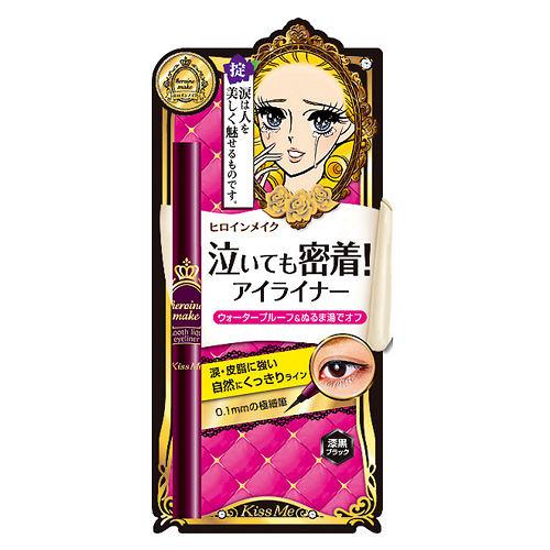 華爾茲淚眼防水眼線液筆0.1mm-黑Kiss Me  ♥大眼娃娃假睫毛專賣店  近千種假睫毛品牌及款式♥