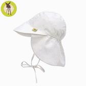 德國Lassig-嬰幼兒抗UV防曬遮頸帽-小米白