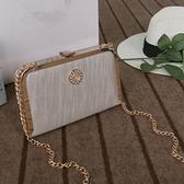 鑲鑽鏈條包-時尚優雅氣質精美女晚宴包4色73iy15【時尚巴黎】