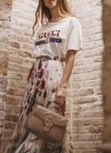 ■現貨在台■ 專櫃88折 ■ Gucci 全新真品 498110 小款 GG Marmont 手提肩背兩用包 裸色