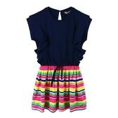 『小鱷魚童裝』拼接條紋洋裝(02號~06號)535352