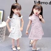 1女寶寶旗袍洋裝3一歲洋氣女童夏裝4小女孩2嬰兒童夏季公主裙子中秋節全館免運