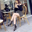 網紗涼靴細跟高跟鞋ins仙鏤空2020年新款性感露趾網紅羅馬涼鞋夏 一米陽光