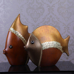 陶瓷魚擺設 復古家居裝飾品