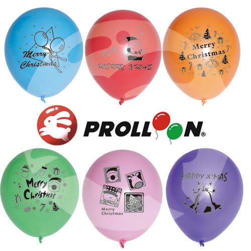 【大倫氣球】聖誕節印刷氣球-10吋圓形(糖果色) 一面一色印刷氣球,聖誕節派對、XMAS Party