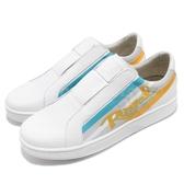 Royal Elastics 休閒鞋 Bishop Color Line 白 黃 塗鴉 皮革鞋面 無鞋帶設計 橡膠大底 男鞋【PUMP306】 01791053