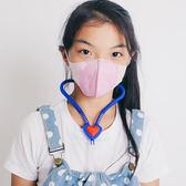 台灣製造-兒童立體耳繩式口罩  粉色三層 每包50片