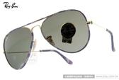 RayBan 太陽眼鏡 RB3025JM 172 -58mm (藍紫-金) 迷彩系列 熱銷飛官款 # 金橘眼鏡