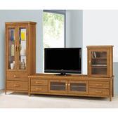 【森可家居】愛麗絲柚木9.5尺客廳L櫃 8SB211-4 電視展示櫃 實木 日式無印風  MIT台灣製造