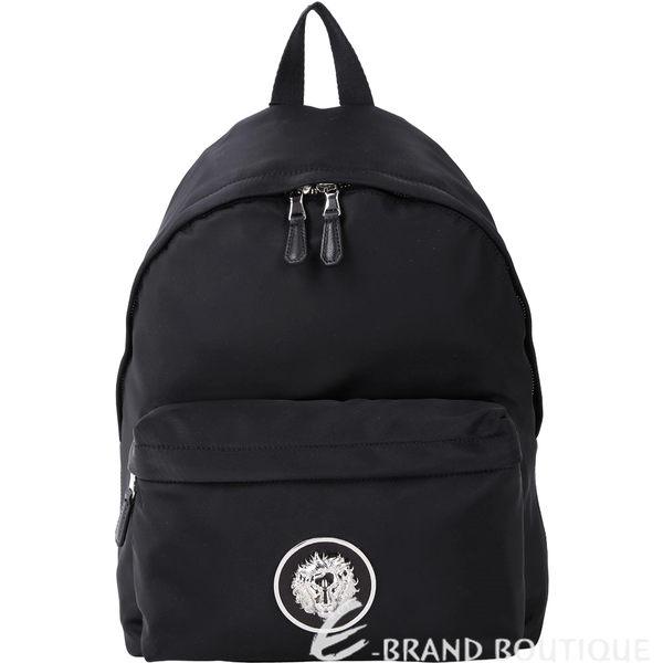 Versus Versace LION 經典立體獅頭徽章尼龍後背包(黑色) 1810164-01