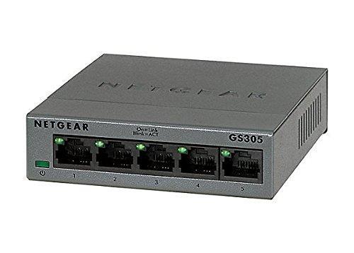 NETGEAR 5端口千兆以太網非管理型交換機(GS305)
