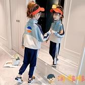 女童秋裝套裝兒童運動中大童女孩兩件套【淘嘟嘟】