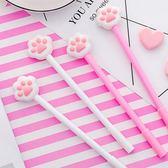 【BlueCat】粉紅肉墊貓掌中性筆 水性筆
