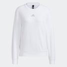 Adidas W FI GLOSS 女裝 長袖 T恤 大學T 落肩 側開衩 棉 白【運動世界】H09743
