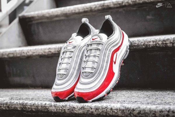 ISNEAKERS NIKE AIR MAX 97  銀紅 漆皮 亮面 反光 921826-009