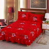 保潔墊 床罩 床裙式加厚床套單件保護套韓式床蓋防滑花邊床單荷葉邊床裙『潮流世家』