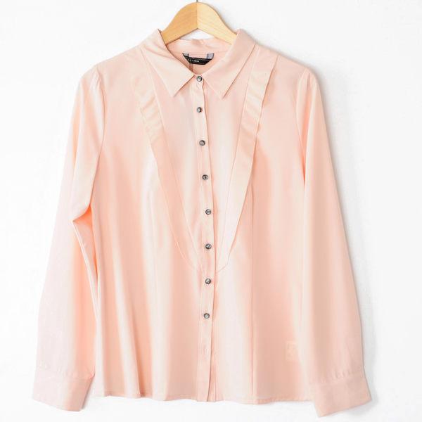 【MASTINA】波浪尖領襯衫-粉 好康優惠