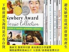 二手書博民逛書店Newbery罕見Award 紐伯瑞獲獎小說8本盒裝 Grave