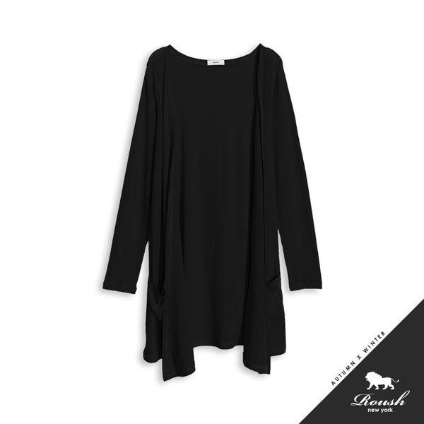 【Roush】 女生長版開襟式針織外套 -【170106】