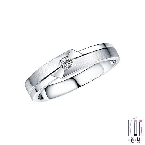 K'OR蔻兒 宣告幸福 0.08CT鑽石K金男戒指