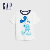 Gap 男幼童 Gap x Disney 迪士尼系列仿舊水染短袖T恤 544966-光感亮白
