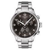 [結帳再折] TISSOT天梭 Chrono XL 韻馳系列計時腕錶-銀x黑/45mm/T1166171105701