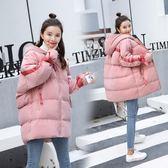 VK精品服飾 韓國學院風學生連帽寬松加厚棉服單品外套