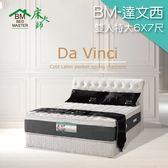 客約商品 床大師名床 進口布天然乳膠雙層波浪獨立筒床墊 7尺雙人 (BM-達文西)