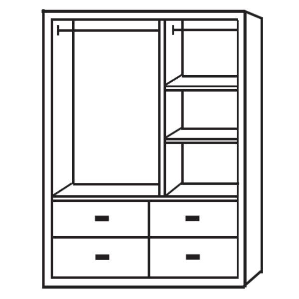 衣櫃 衣櫥 BT-82-3 玉桂實木4X6尺衣櫥【大眾家居舘】