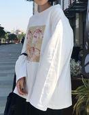 長袖t恤百搭女上衣服寬鬆韓版(4色)