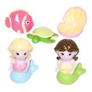 【美國Elegant Baby】洗澡玩具5入組- 美人魚派對 40584