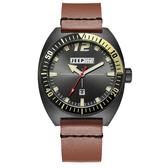 Jeep Spirit   美國指標美式復古風腕錶-黑X褐色