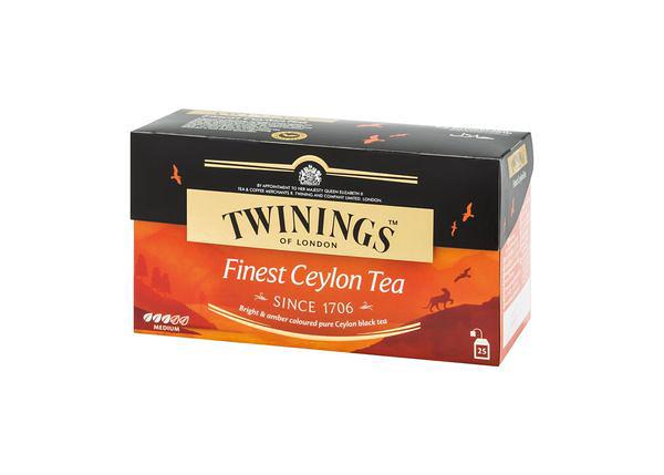英國唐寧茶 TWININGS-極品錫蘭茶包 FINEST CEYLON TEA 2g*25入/盒-【良鎂咖啡精品館】