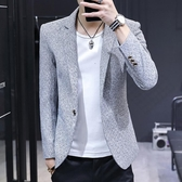 小西裝男一套韓版修身外套休閒西服上衣帥氣潮流2019秋季搭配套裝 潮流衣館